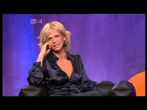 Zoe Ball - The Frank Skinner Show Black Satin Blouse