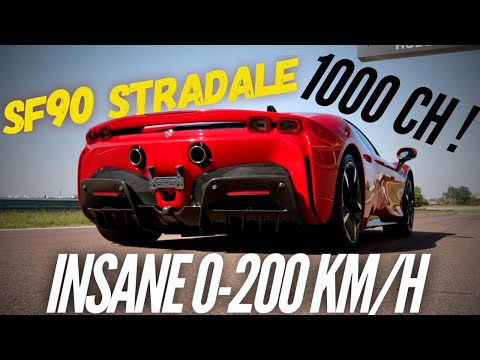 Ferrari SF90 Stradale : insane 0-200 km/h !