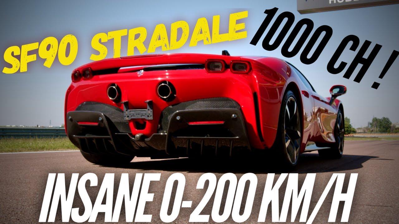 Ferrari Sf90 Stradale Insane 0 200 Km H Youtube