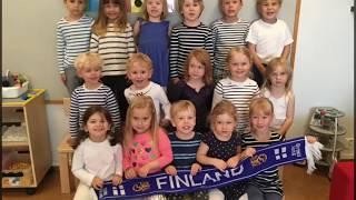 Finland 100 år på Askbackens daghem