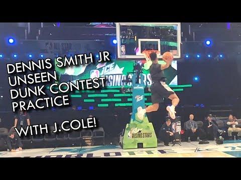 Dennis Smith JR Unseen NBA Dunk Contest Practice feat J.Cole