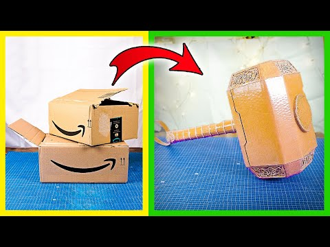 How to make Thor's hammer with cardboard