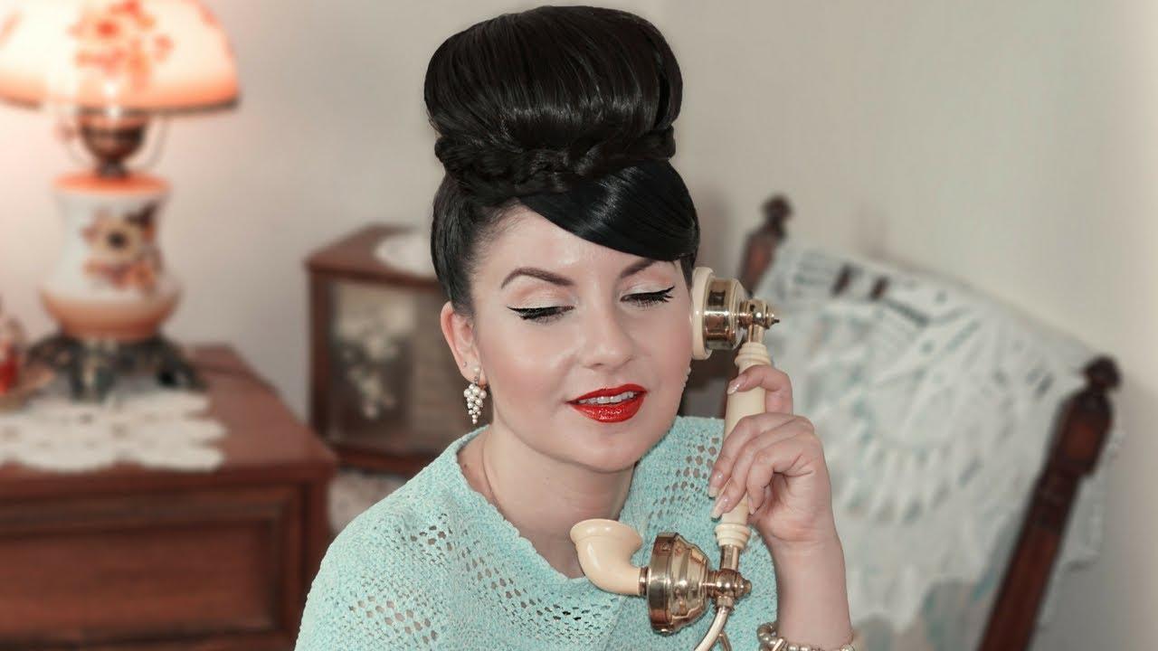 Peinado De Los Anos 60 Easy 1960s Hair Tutorial Nena Moreno