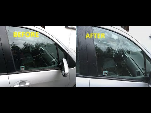 How to Remove, Fix a glass, window scratch on your car