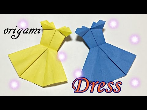 How to make paper Dress | Easy but cool origami tutorial for beginners only one piece of paper