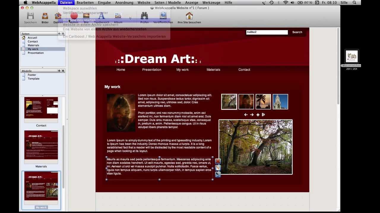 Vorlagen sichten mit Web Acappella - YouTube