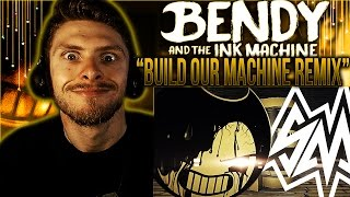 Vapor Reacts 352 BENDY AND THE INK MACHINE SONG REMIX Build Our Machine By SayMaxWell REACTION