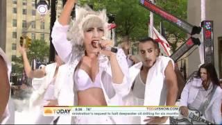 Lady Gaga Bad Romance - The Today Show 7.9.10 HD