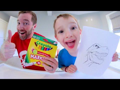 3 MARKER CHALLENGE/ Dad VS Son