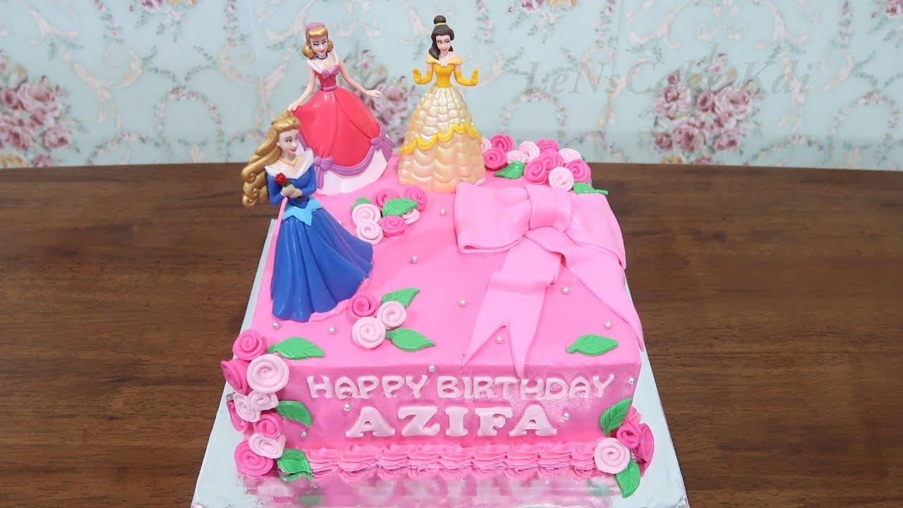 Birthday Cake For Girls New Princes Disney Character 1