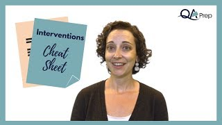 Therapy Interventions Cheat Sheet for Case Notes