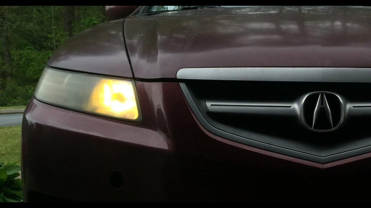 Meguiars Headlight Restoration 2007 Acura Tl Type S