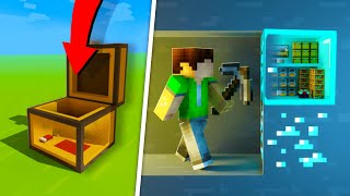 10 Minecraft Houses INSIDE a Block to Hide from Your Friends!