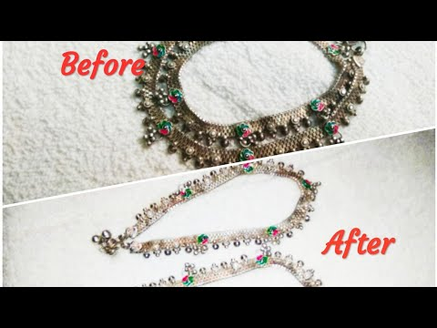 How to clean silver chain at home|silver item cleaning|Polish silver anklet at home|Anklet cleaning