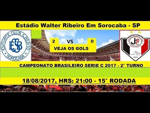CAMPEONATO BRASILEIRO SERIE C 2017 SÃO BENTO-SP 2 X 0 JOINVILLE-SC