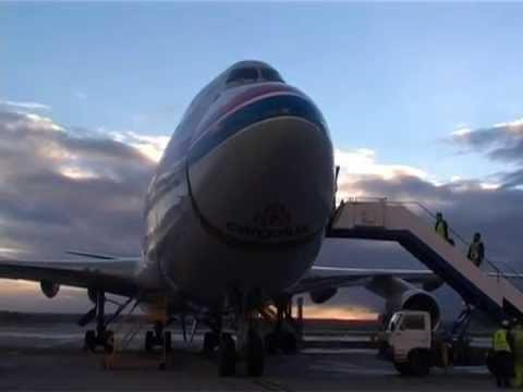 HORSE AIR TRANSPORT HORSE RUSH TV AUSTRALIA BOEING 747