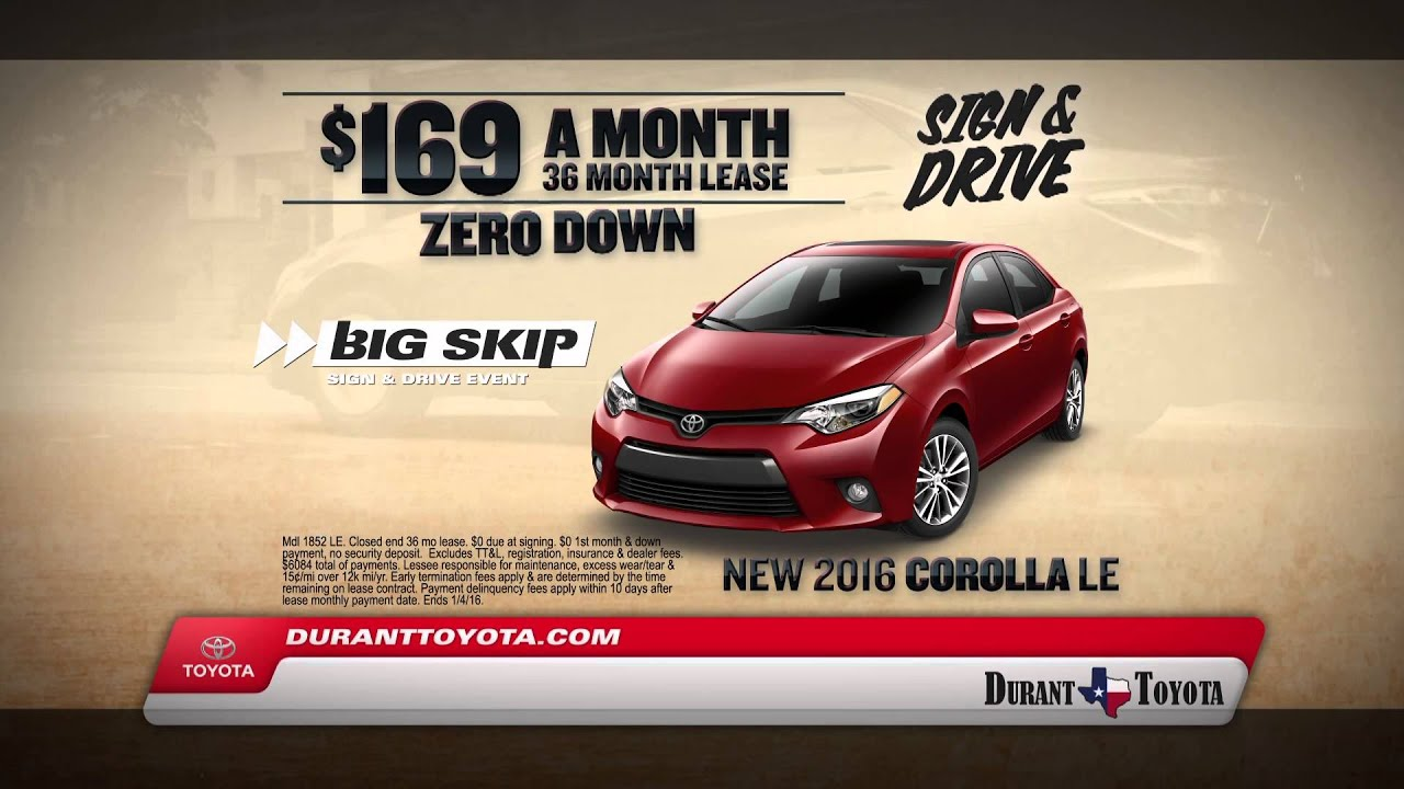 Durant Toyota Big Skip Sign and Drive Event