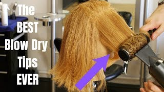 The BEST Blow Dry Tips EVER - TheSalonGuy