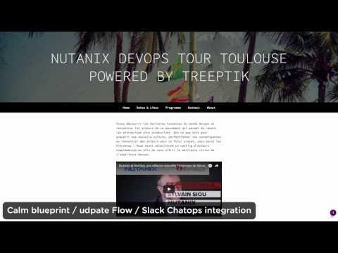 Nutanix DevOps tour 2017 demo