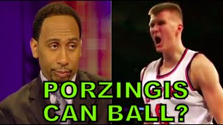 Stephen A Smith UPDATED Reaction- Kristaps Porzingis From Draft to NBA Rookie Star (ESPN First Take)