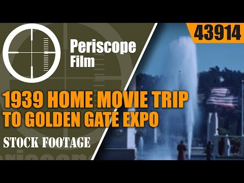 1939 HOME MOVIE  TRIP TO GOLDEN GATE INTERNATIONAL EXPOSITION  TREASURE ISLAND  SAN FRANCISCO 43914