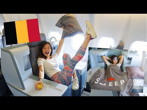 Flying Air Belgium Business Class! YouTubers' Trip to Belgium ◆ Emi ◆