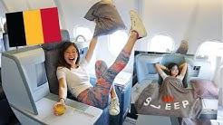 Flying Air Belgium Business Class! YouTubers' Trip to Belgium ◆ Emi ◆