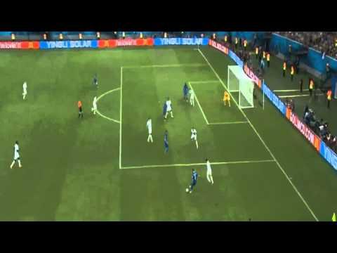 England vs Italy 1 2  Mario Balotelli Goal ~ England vs Italy 1 2 ~ World Cup 2014 Brasil