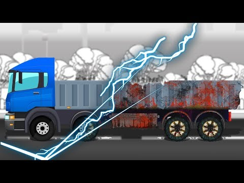 Good and Evil | Truck Cartoon | Scary Halloween Vehicle