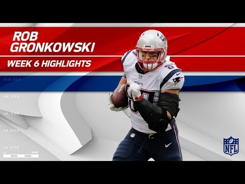 Rob Gronkowski Snags 2 TDs vs. New York! | Patriots vs. Jets | Wk 6 Player Highlights
