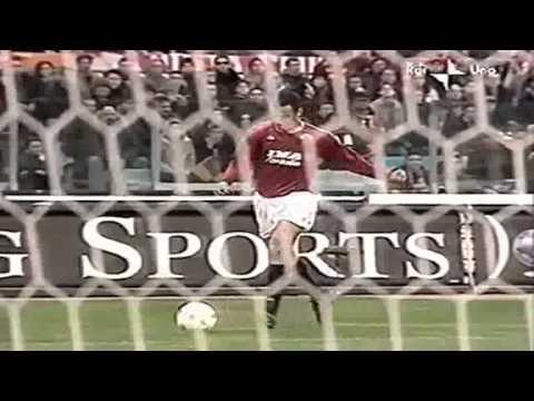 Serie A 2000-2001, day 16 Roma - Napoli 3-0 (Delvecchio, Totti, Batistuta)