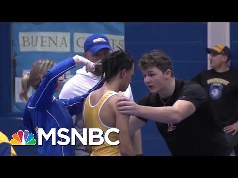 High School Wrestler Forced To Cut Dreadlocks Or Forfeit Match   Velshi & Ruhle   MSNBC