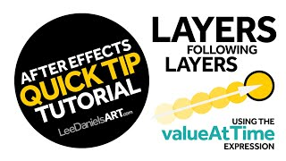 After Effects Tutorial | QUICK TIP | Layers Following Layers | valueAtTime Expression