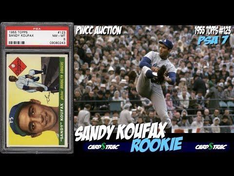 1955 Sandy Koufax Topps #123 Rookie Card PSA 7