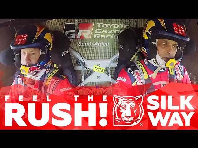 Feel the rush! Unique look inside a cabin at the finishing line | Silk Way Rally 2018🌏