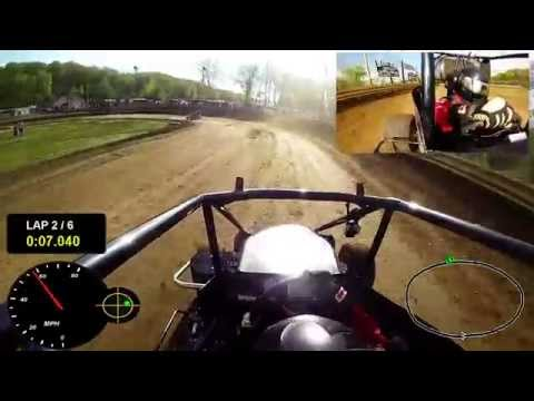 GPS overlay dual in car Qualifying at US 24 Speedway 5/17/2014