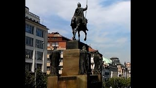 Prague Wenceslas Square Statue of St. Wenceslas