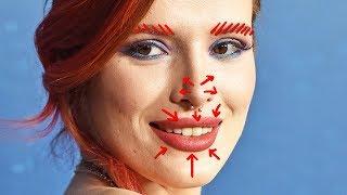 Removing BELLA THORNE&#39S Plastic Surgery