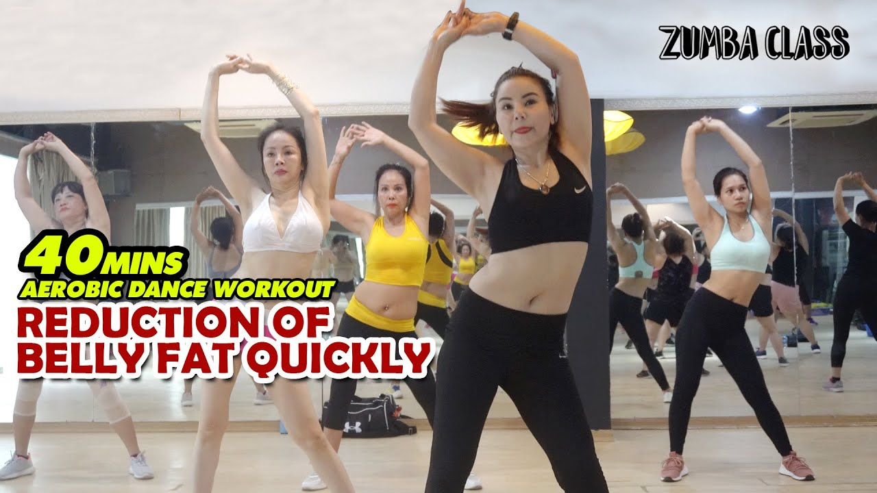 HOT - Reduction Of Belly Fat Quickly With 40 Mins Aerobic Dance Workout l Zumba Class