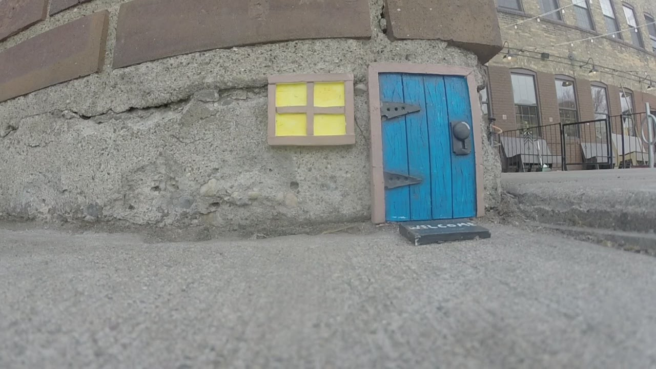 Artist Makes Tiny u0027Mouse Doorsu0027 Near Minneapolis Landmarks & Artist Makes Tiny u0027Mouse Doorsu0027 Near Minneapolis Landmarks - YouTube