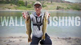 Fort Spokane WALLEYE Bank Fishing | Walleye Catch and Cook