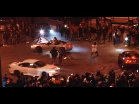 OAKLAND SIDESHOW:  Raw video of sideshow on Oakland's Oak St. Saturday night