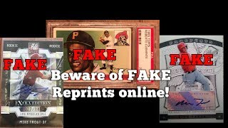 BEWARE of FAKE Reprints of Trout Jeter Bryant etc. online!