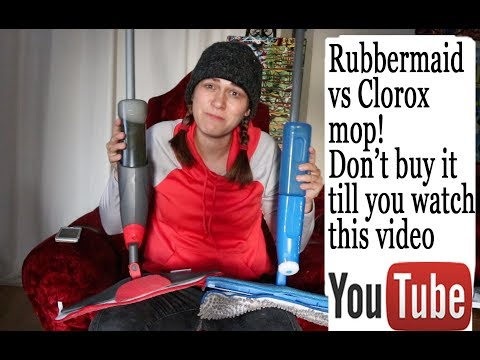 DON'T Buy mops till you watch this - rubbermaid reveal spray mop vs clorox mop spray mop
