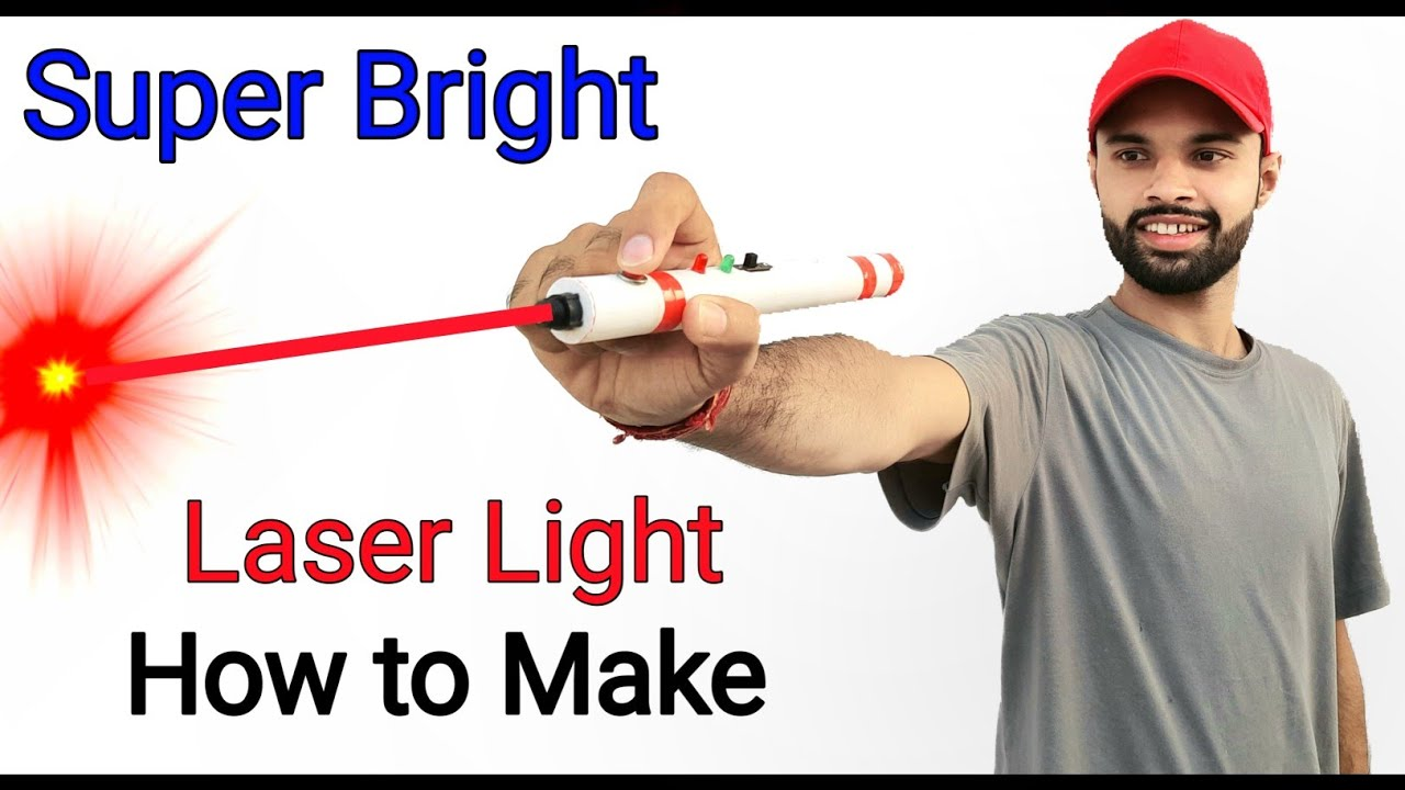 Laser Light || How to make Laser Light || Rechargeable || Home Made Laser Light | Super Bright light