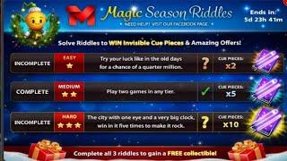 8ball Pool Magic Season Riddles   Miniclip