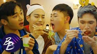 E36💋 Slumber Party Part 1: Korean Delivery Food Mukbang || BeautyBeasts