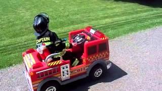 Kids Power Wheels Fire Truck Ride-On Toy 6v