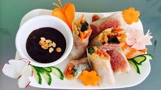 Bò Biá | Vietnamese Summer Rolls With Chinese Sausage