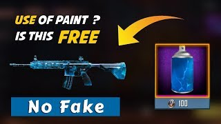 Use of Paint to Get or Upgrade Gun Skin of M416 and Kar98 terror Skin #CoolAmry